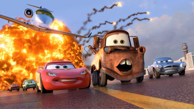 A shot from Cars 2